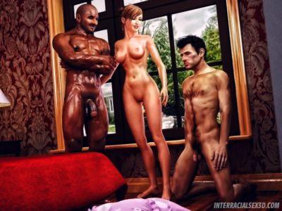 Cuckold Husband Initiation- Interracialsex3d