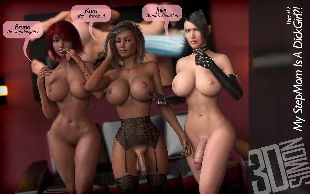 3DSimon- My StepMom Is a DickGirl 2