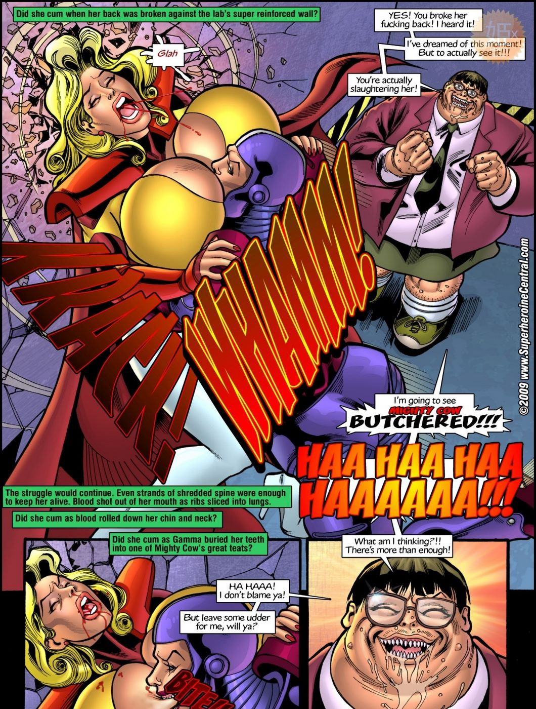 Superheroine Central- Mighty cow - part 3