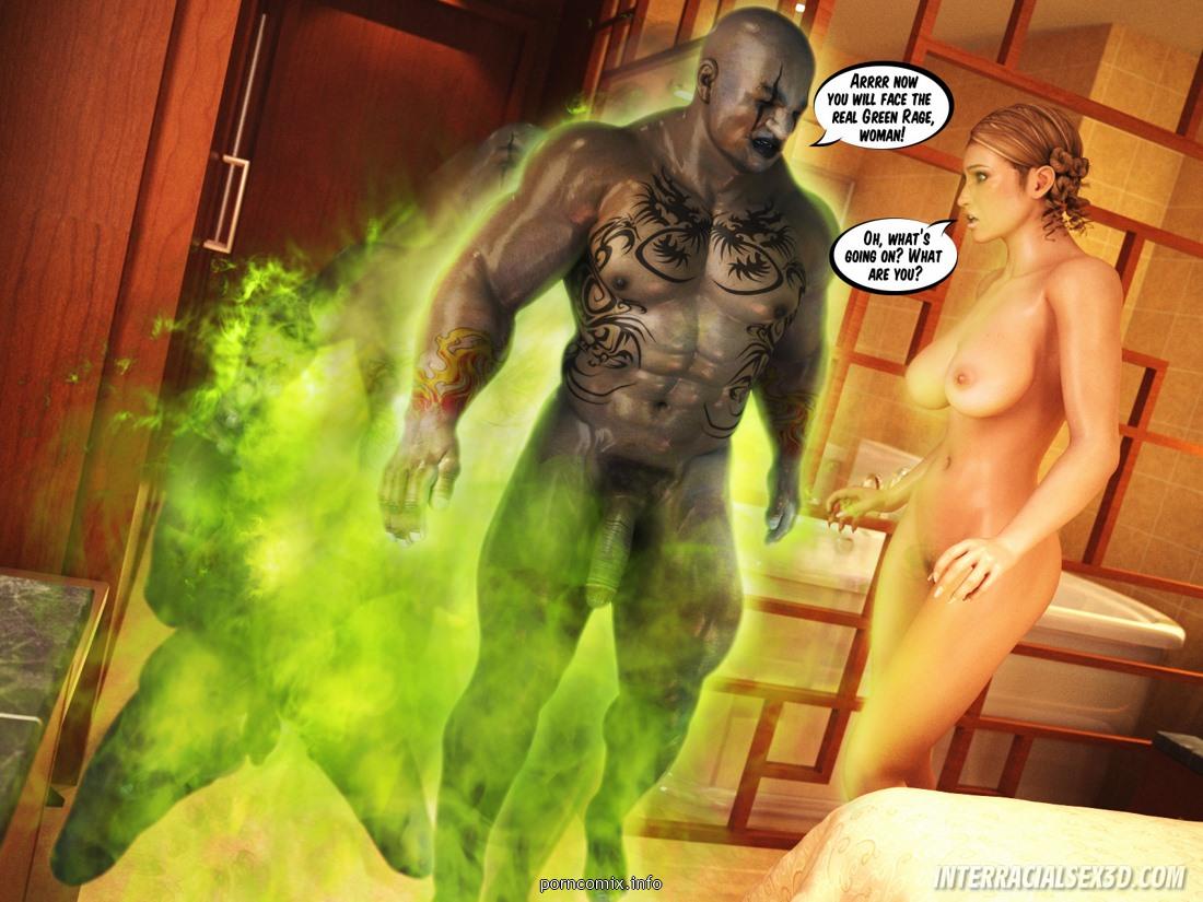 InterracialSex3D - Green Rage