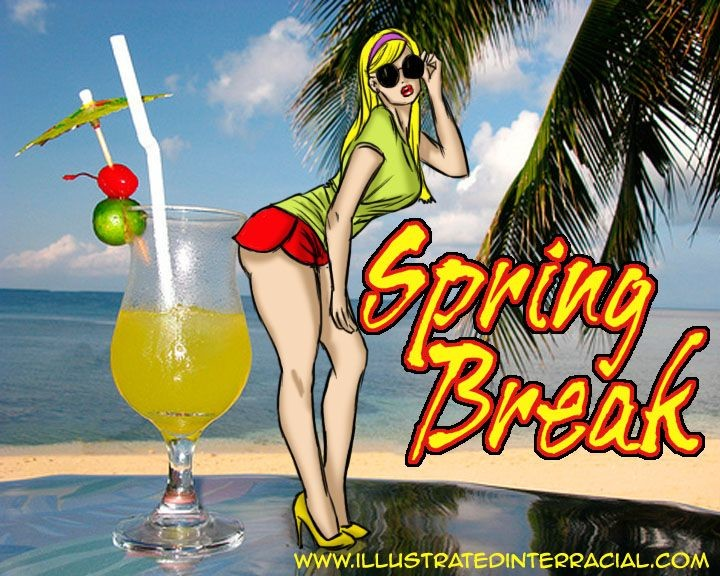 Spring Break- illustrated interracial
