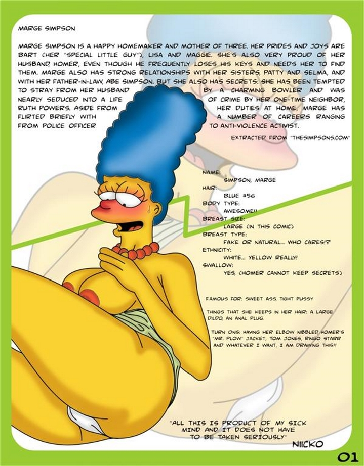 Toon Babes - Marge Simpsons