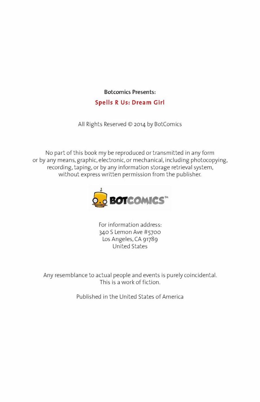 Spells R Us - Dream Girl 2- Bot Comics