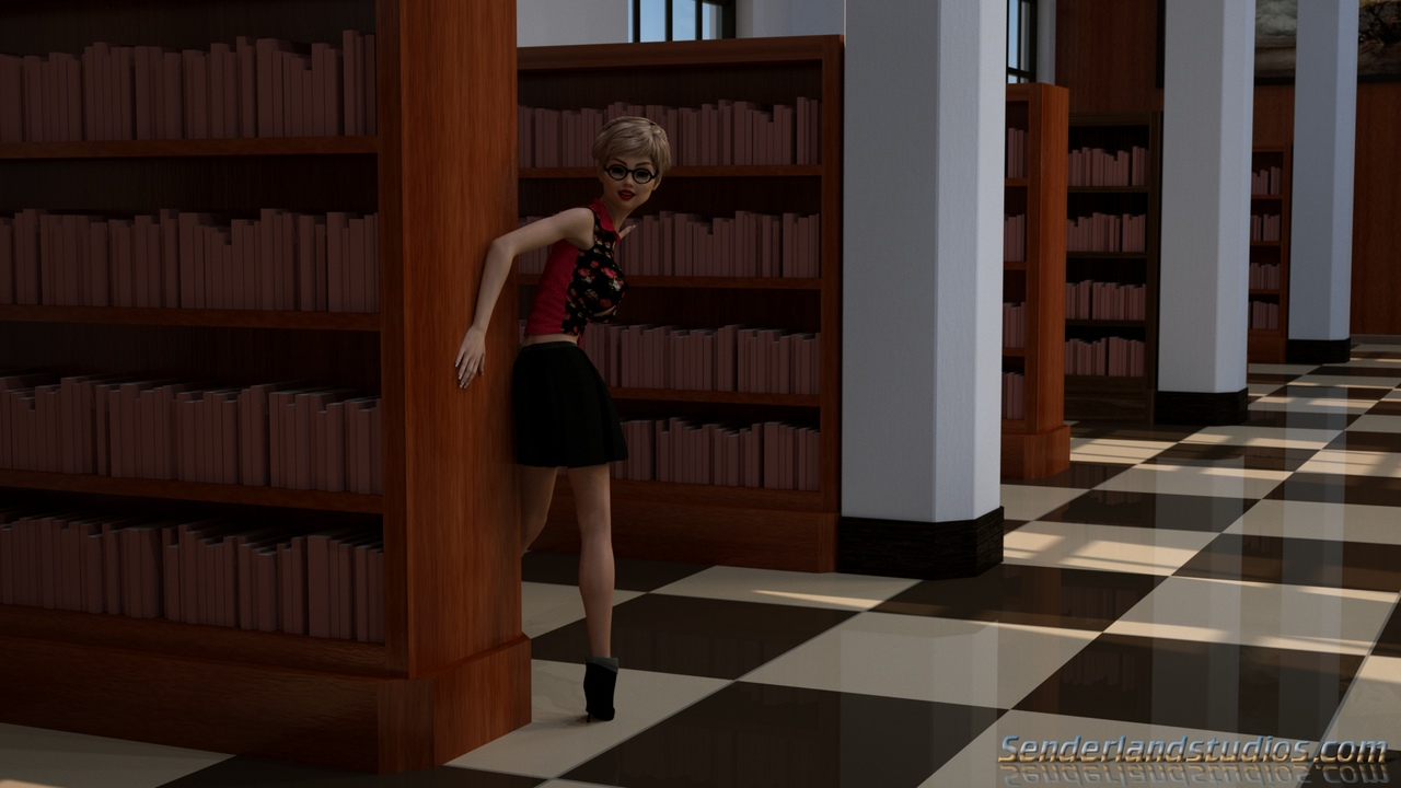 Heather In The Library
