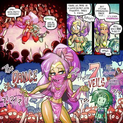 [Superhappy- Teslakoi- and Freeglass] The Dance of the 7 Veils (Shantae)